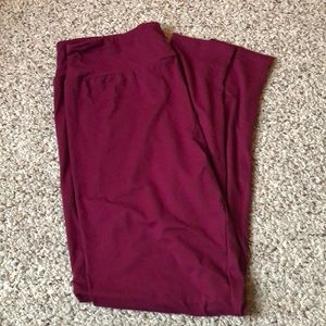 Lularoe New Release Solids Red Plum Leggings NWOT